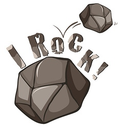Rock english expression on white vector