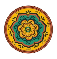 Beautiful round ornament vector