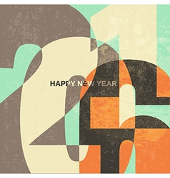 new year card 2016 vector image