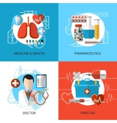 Medical design concept vector