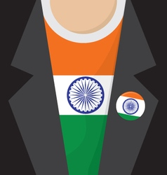 T-shirt with india flag vector