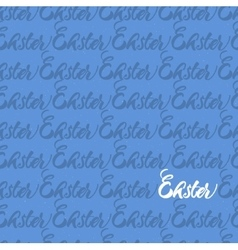Seamless pattern repeating the word easter vector
