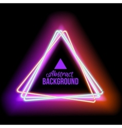 lowing electric triangle neon lamp vector image