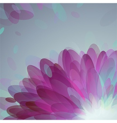 Abstract purple petals vector image