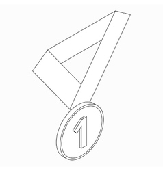 Medal icon isometric 3d style vector