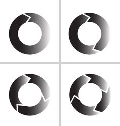 arrow refresh reload rotation loop icon vector image vector image