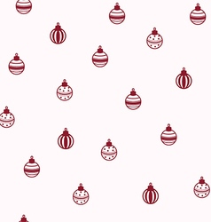 Baubles seamless pattern vector image vector image