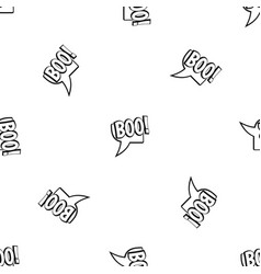 Boo comic text speech bubble pattern seamless vector