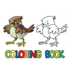 Brave sparrow coloring book vector