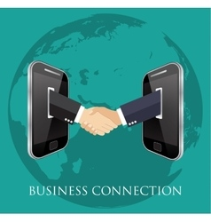 Business connection and relations vector
