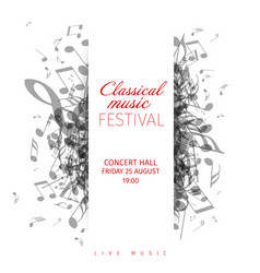 Classical music concert poster template vector