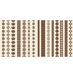 Decoration elements patterns vector