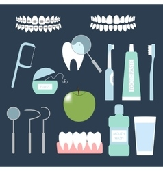 Dental care set vector