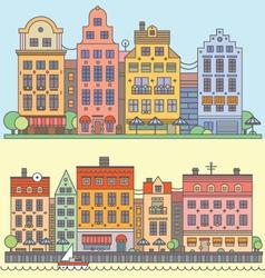 European street landscape vector