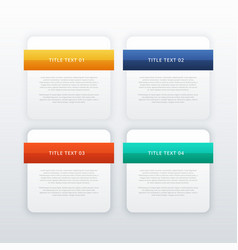 four modern web banners or infographic template vector image vector image