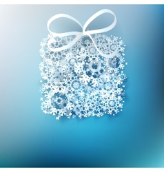 Gift box made from paper snowflakes EPS 10 vector image vector image
