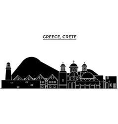 Greece crete architecture city skyline vector