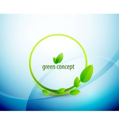Green circle nature concept vector image vector image