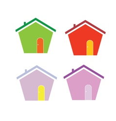 house cartoon color vector image