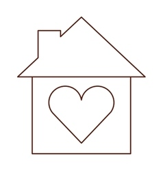 house love heart isolated icon vector image