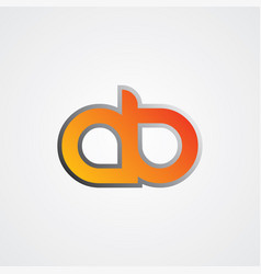 initial letter linked uppercase logo black red in vector image