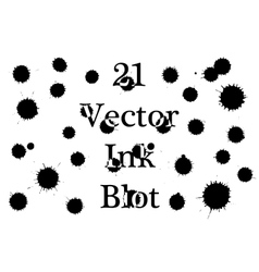 Ink blots on a white background vector