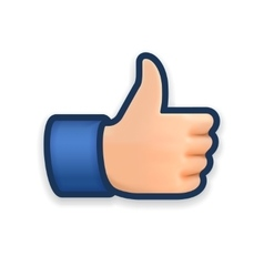 Like icon emoji thumb up symbol vector