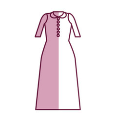 Long dress cloth style vector