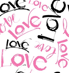 Love handwritten calligraphy and lettering vector image