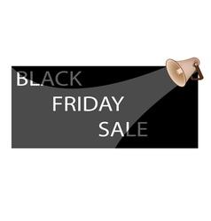 Megaphone shouting word black friday sale vector