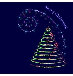 neon swirl vector image vector image