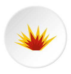 Nuclear explosion icon circle vector