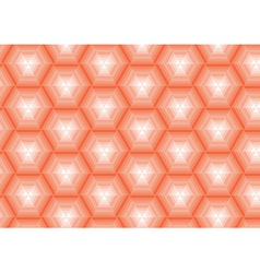 orange striped background in polygons vector image