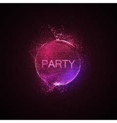 Party neon sign vector image vector image