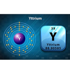 Periodic symbol and diagram of Yttrium vector image vector image