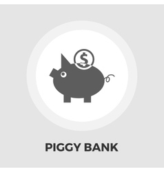 Piggy bank icon flat vector image vector image