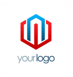 Polygon business logo vector