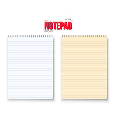 Realistic Notepad Set Isolated on White vector image vector image