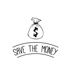 Save the money design over background vector