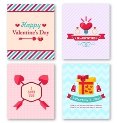 Set Beautiful Brochures for Happy Valentine Day vector image vector image