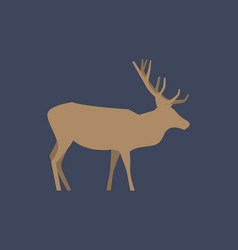 silhouette of crying deer vector image