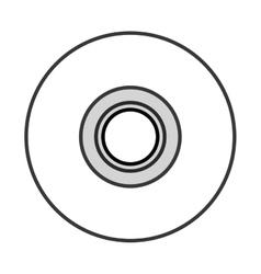 Single cd icon vector