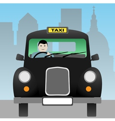 taxi cab vector image vector image