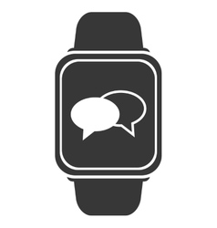 Smart watch with conversation bubbles icon vector