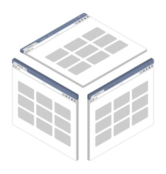 Simple isometric browser window on white vector