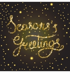 Season s greetings lettering vector