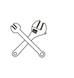 Isoalted wrench tool design vector