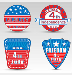 Different independence day logos vector