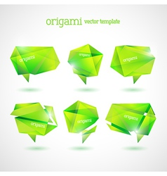 Geometrical Origami Template vector image
