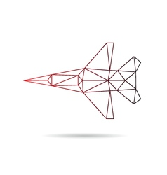 Airplane abstract isolated vector
